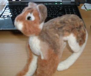 リアル羊毛猫