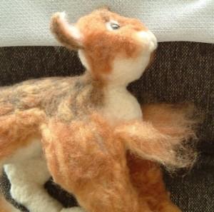 羊毛フェルトでリアル猫作成 植毛