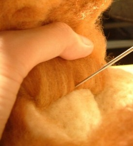 羊毛フェルトでリアル猫作成 植毛 方法3