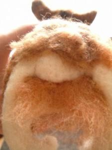 羊毛フェルトでリアル猫 猫のお尻
