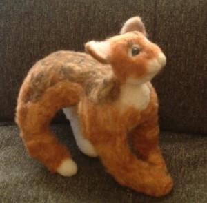 羊毛フェルトでリアル猫 全身