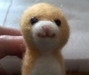 羊毛フェルト マンチカンの口