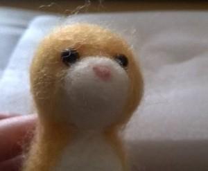 羊毛フェルト マンチカンの鼻