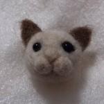 羊毛フェルトでシャム猫を作成しました その3