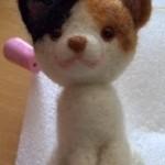羊毛フェルト三毛猫 正面