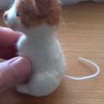 羊毛フェルト三毛猫 しっぽ
