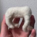 20140510_羊毛フェルトの白猫 体