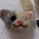 20140809 羊毛フェルト猫マスコット 手直し