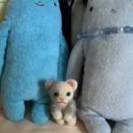 20140827_羊毛フェルト 白灰色の猫
