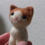 羊毛フェルト猫 茶トラ