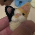 羊毛フェルト三毛猫 マスコット