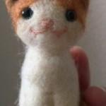 20150321 羊毛フェルト ハチワレ茶トラ猫