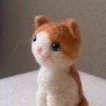 羊毛フェルト ハチワレ茶トラ猫さんの旅立ち