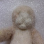 羊毛フェルトで実家の猫を作ります 顔の肉付け&耳を作る