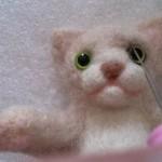 羊毛フェルト猫 まぶた