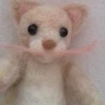 羊毛フェルトで実家の猫を作ります 鼻と口を作る