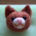 【終了】羊毛フェルト猫ストラップ(茶猫)を出品しました