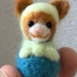 【終了】楽天オークションに 羊毛フェルト猫マトリョーシカ(薄緑)を出品しました