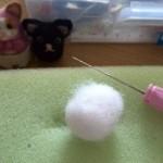201520812羊毛フェルト 黒猫マトリョーシカ