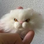 羊毛フェルトでペルシャ猫ブローチを作る ひとまず完成