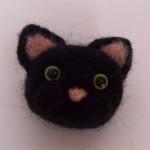 羊毛フェルト猫のブローチをCreema(クリーマ)に出品しました